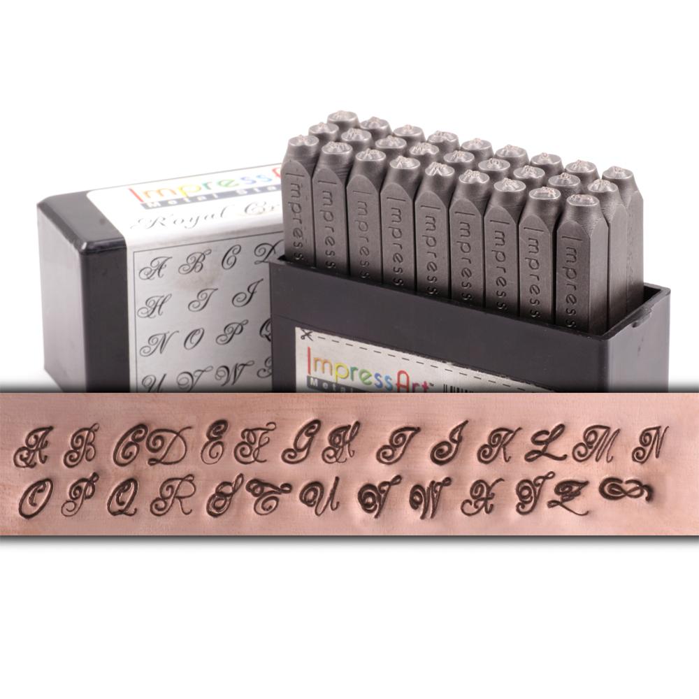 Metal Stamping Tools ImpressArt Royal Crest Uppercase Letter Set - 4mm