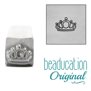 Metal Stamping Tools Queen's Crown Metal Design Stamp, 7mm - Beaducation Original