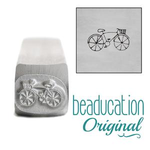 Metal Stamping Tools Hipster Bicycle Metal Design Stamp, 8mm - Beaducation Original