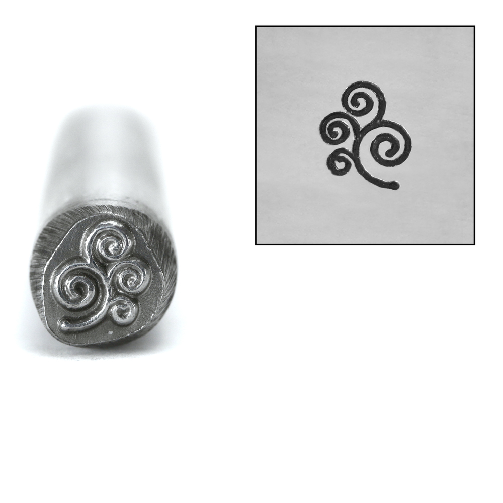 Metal Stamping Tools Spiral Branch Design Stamp, 7mm
