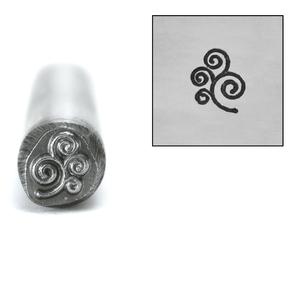 Metal Stamping Tools Spiral Branch Design Stamp, 7mm