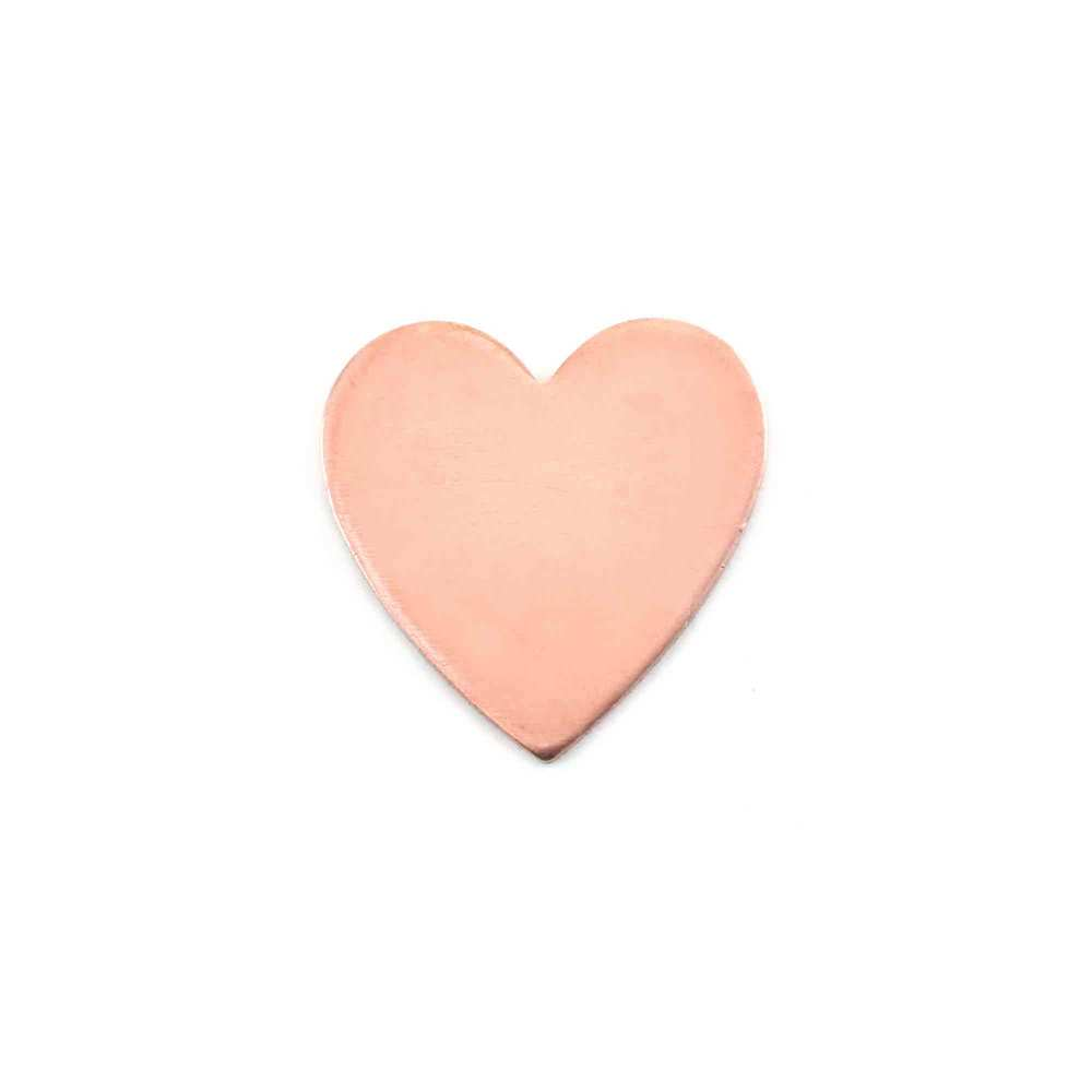 "Metal Stamping Blanks Copper Heart, 18mm (.71"") x 17.5mm (.69""), 18g"