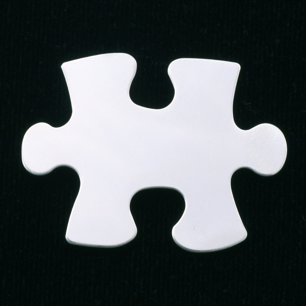 Metal Stamping Blanks Sterling Silver Puzzle Piece, 24g