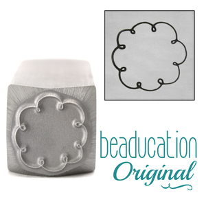 Metal Stamping Tools Cloud Circle Border Metal Design Stamp-Beaducation Original