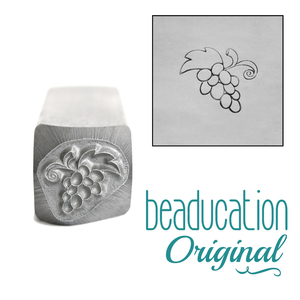 Metal Stamping Tools Bunch of Grapes Metal Design Stamp, 10mm - Beaducation Original