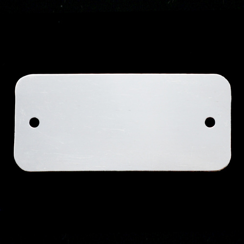 Metal Stamping Blanks Sterling Silver Rectangle Component with Holes, 24g