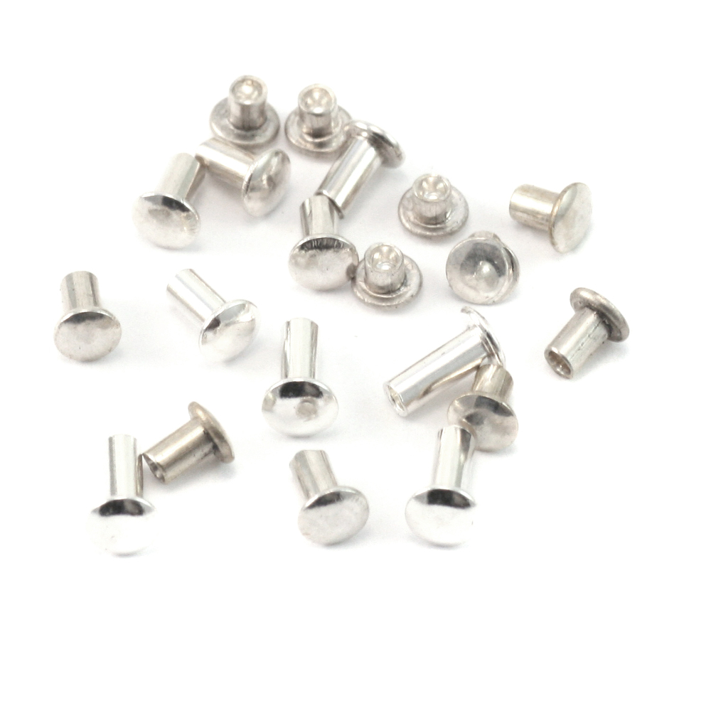 "Rivets,  Findings & Stringing Assorted Sterling Silver Hollow 1/16"" Rivets"