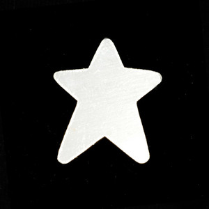 Metal Stamping Blanks Sterling Silver Abstract Star, 24g