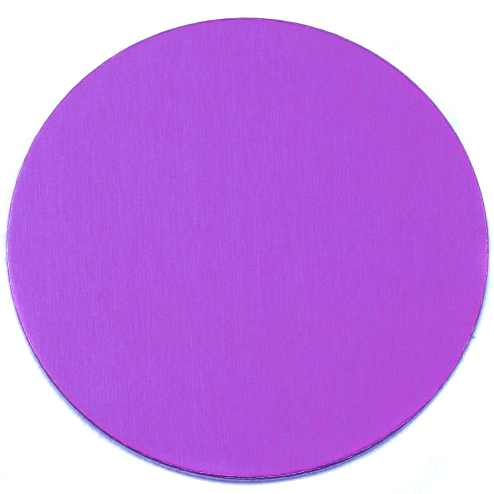 "Metal Stamping Blanks Anodized Aluminum 1"" Circle, Violet, 24g"
