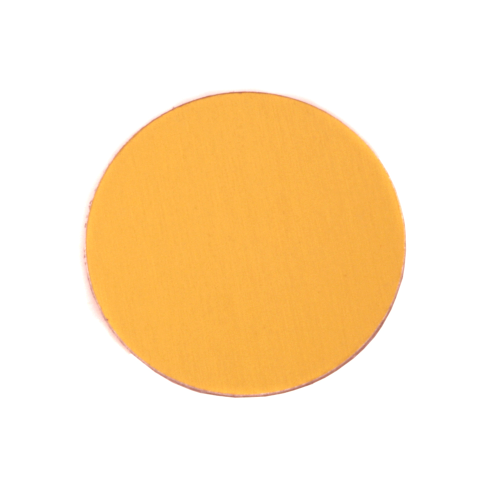 "Metal Stamping Blanks Anodized Aluminum 3/4"" Circle, Gold, 24g"