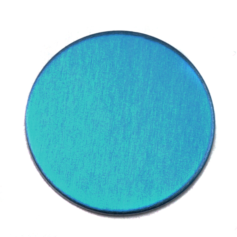 "Metal Stamping Blanks Anodized Aluminum 3/4"" Circle, Turquoise, 24g"