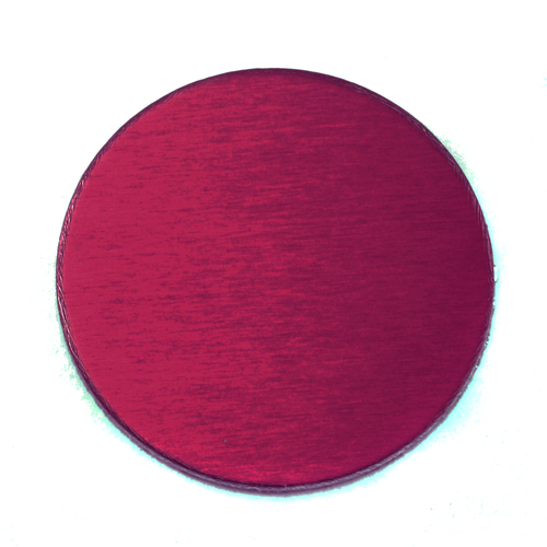 "Metal Stamping Blanks Anodized Aluminum 3/4"" Circle, Rose, 24g"