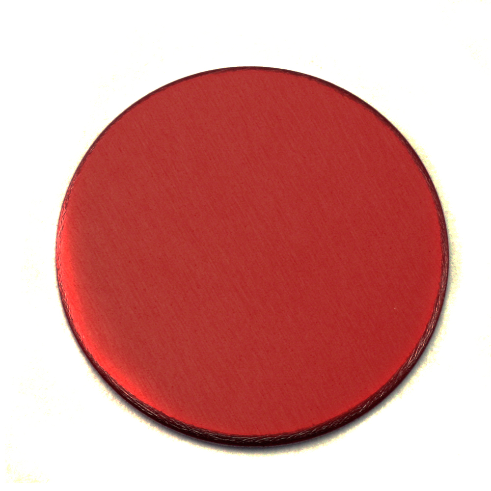 "Metal Stamping Blanks Anodized Aluminum 3/4"" Circle, Red, 24g"