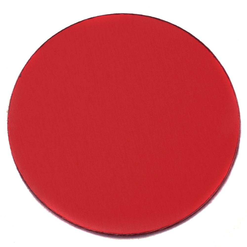 "Metal Stamping Blanks Anodized Aluminum 1"" Circle, Red, 24g"