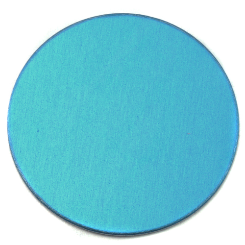 "Metal Stamping Blanks Anodized Aluminum 1"" Circle, Turquoise, 24g"
