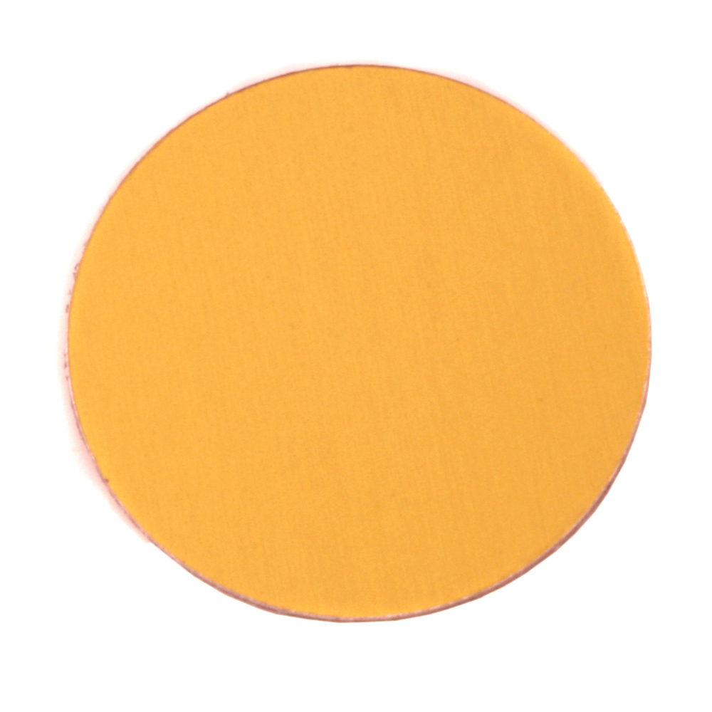 "Metal Stamping Blanks Anodized Aluminum 1"" Circle, Gold, 24g"