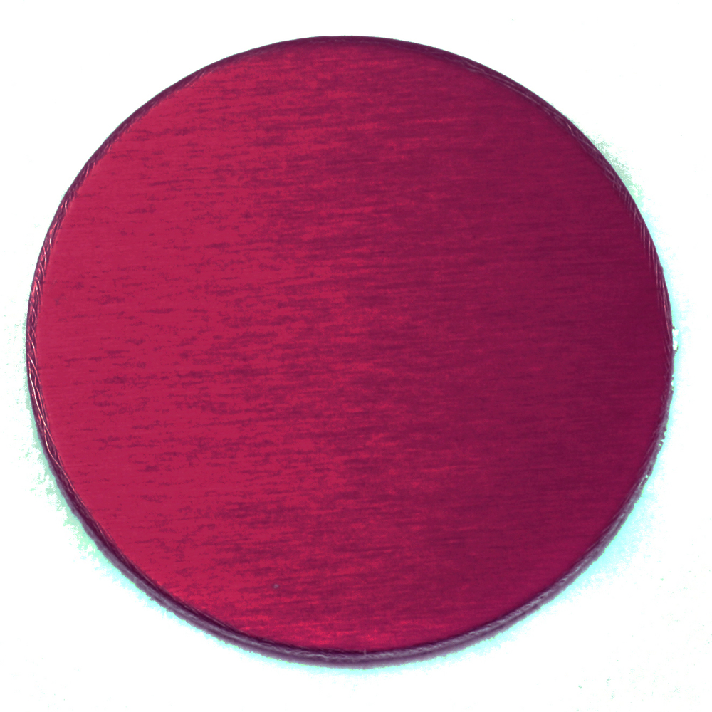 "Metal Stamping Blanks Anodized Aluminum 1"" Circle, Rose, 24g"