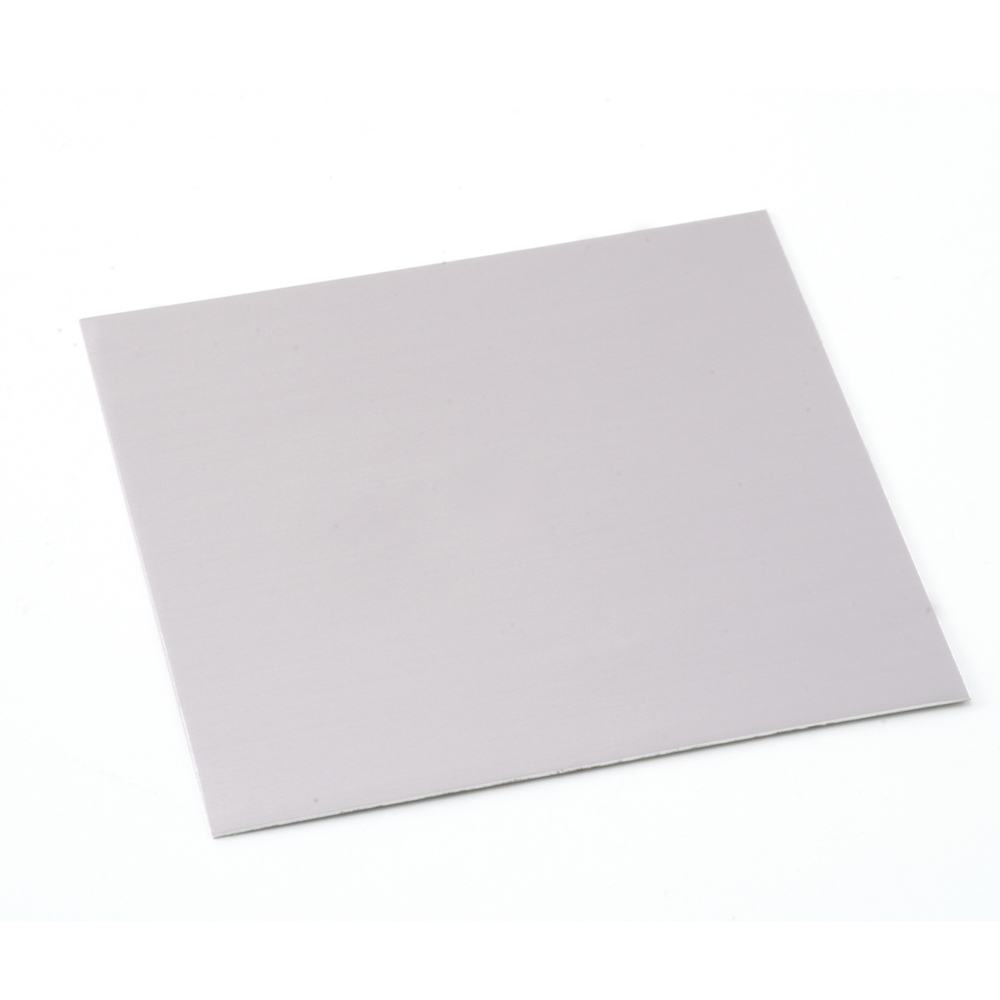 "Anodized Aluminum Sheet, 3"" X 3"", 24g, Grey"