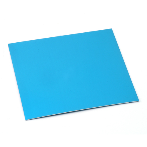 "Sheet Metal Anodized Aluminum Sheet, 3"" X 3"", 24g, Turquoise"