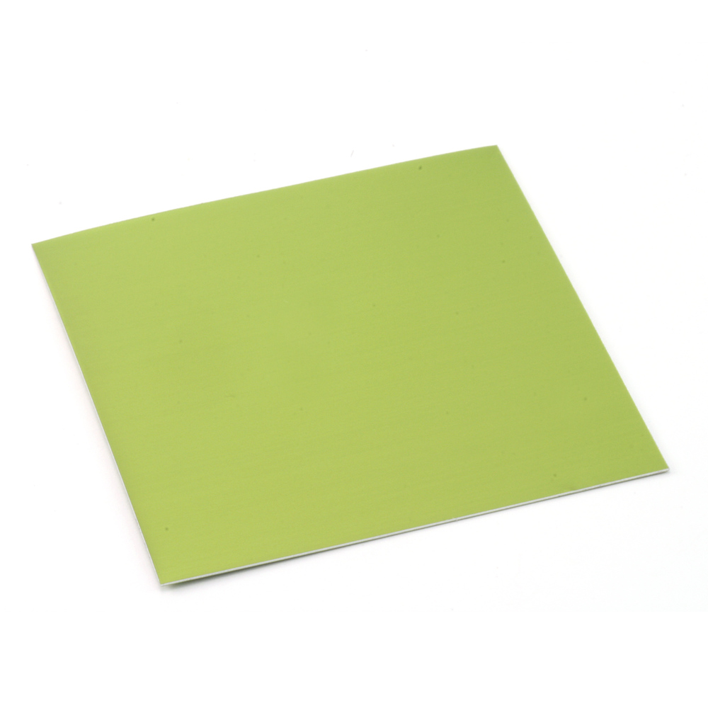 "Wire & Sheet Metal Anodized Aluminum Sheet, 3"" X 3"", 24g, Lime"