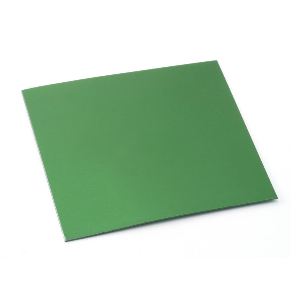 "Wire & Sheet Metal Anodized Aluminum Sheet, 3"" X 3"", 24g, Green"