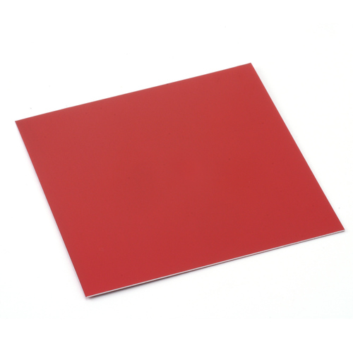 "Sheet Metal Anodized Aluminum Sheet, 3"" X 3"", 24g, Red"