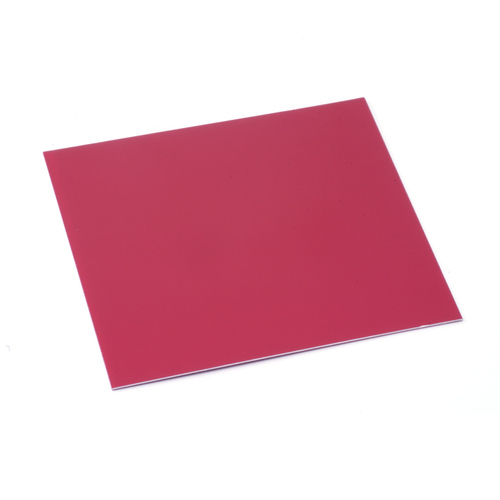 "Sheet Metal Anodized Aluminum Sheet, 3"" X 3"", 24g, Rose"