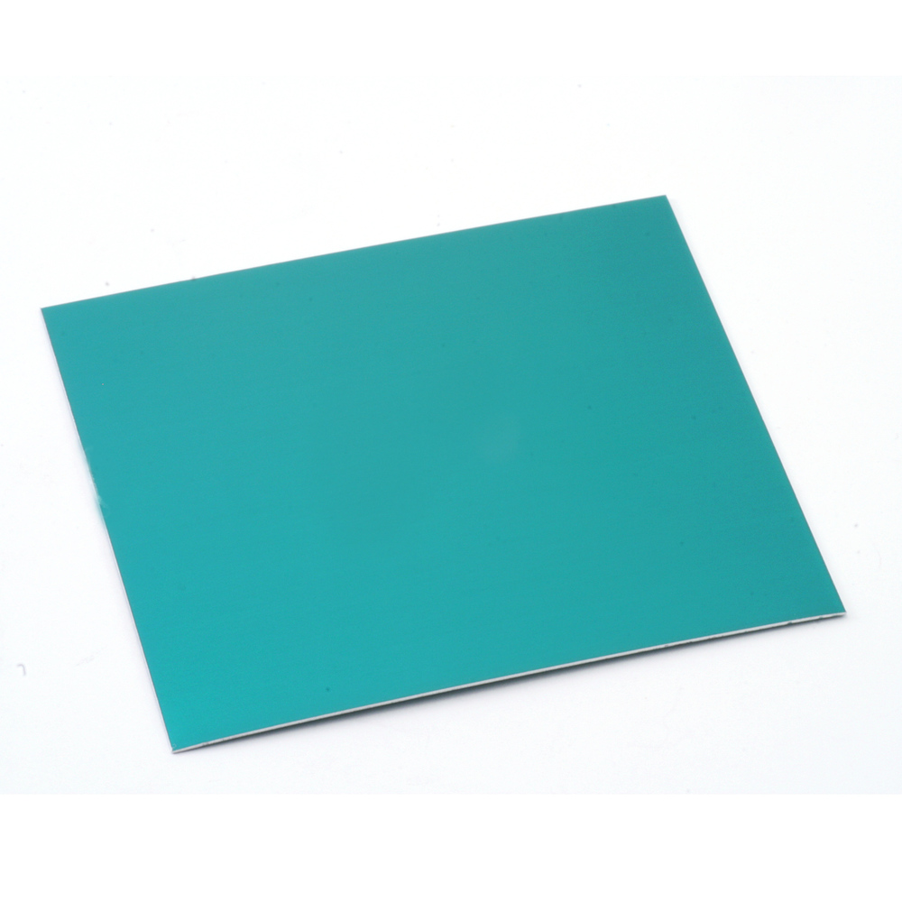 "Wire & Sheet Metal Anodized Aluminum Sheet, 3"" X 3"", 24g, Teal"