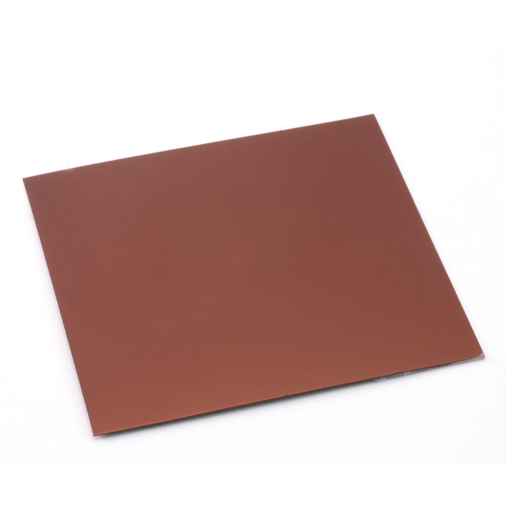 "Wire & Sheet Metal Anodized Aluminum Sheet, 3"" X 3"", 24g, Bronze"