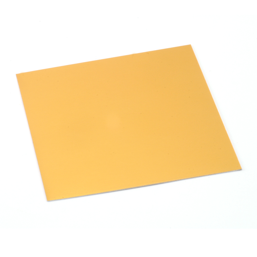 "Wire & Sheet Metal Anodized Aluminum Sheet, 3"" X 3"", 24g, Gold"