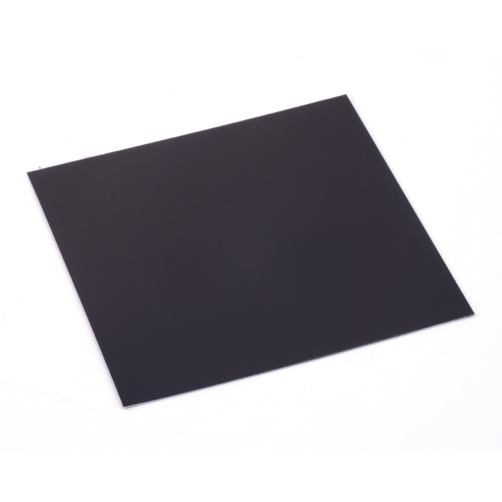 "Wire & Sheet Metal Anodized Aluminum Sheet, 3"" X 3"", 24g, Black"