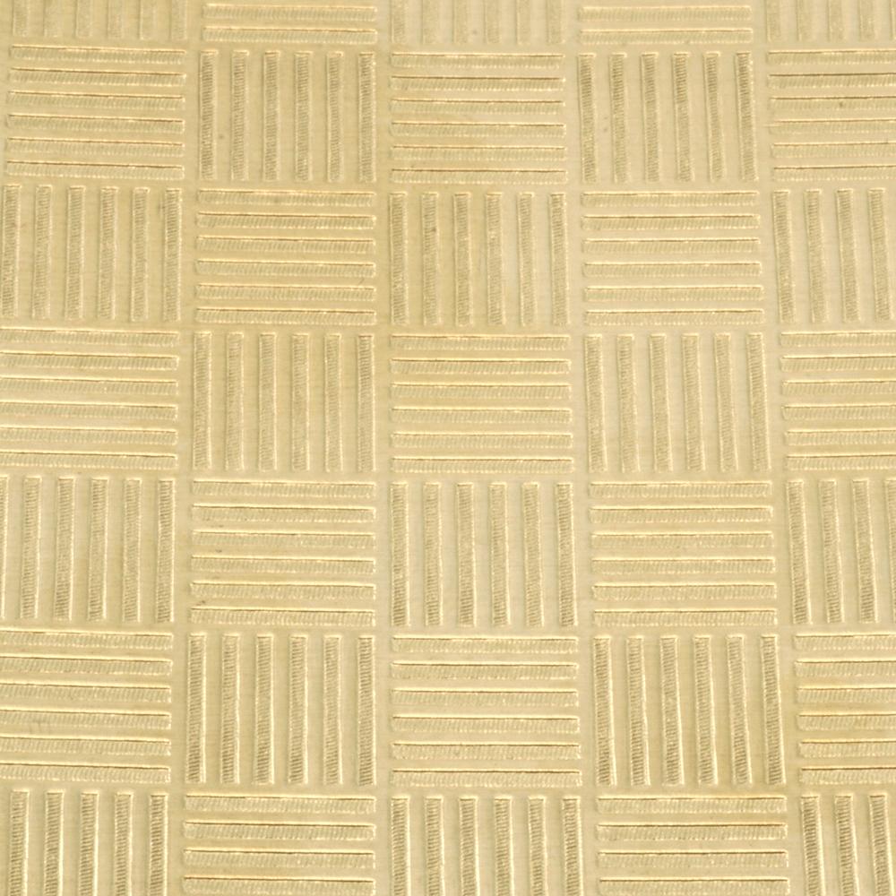 """Wire & Sheet Metal Patterned Brass 22g Sheet Metal, Quilt, 2.5"""" x 6"""""""