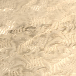 "Sheet Metal Patterned Brass 22g Sheet Metal, Waves, 2.5"" x 6"""