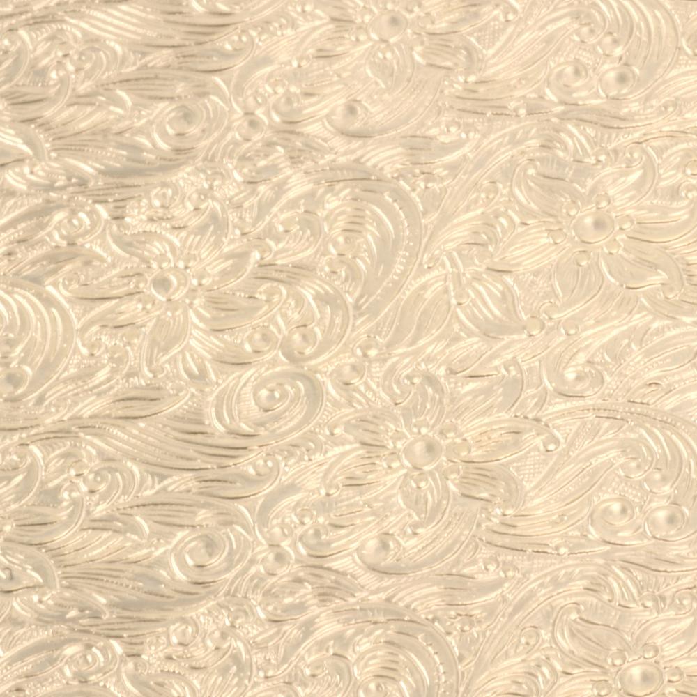 "Wire & Sheet Metal Patterned Brass 22g Sheet Metal, Poinsettia, 2.5"" x 6"""