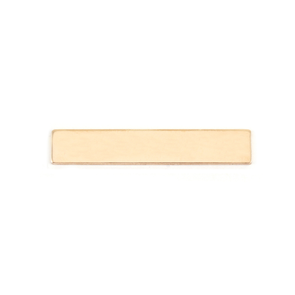 "Metal Stamping Blanks Gold Filled Rectangle Bar, 30.5mm (1.20"") x 5mm (.20""), 24g"