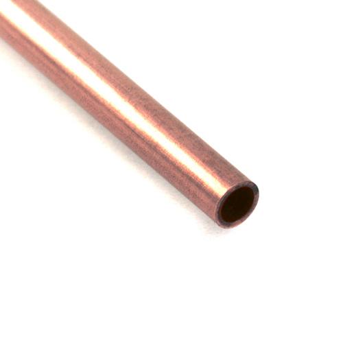 """Rivets,  Findings & Stringing Copper 1/8"""" Rivet Tube, 6""""  Long"""