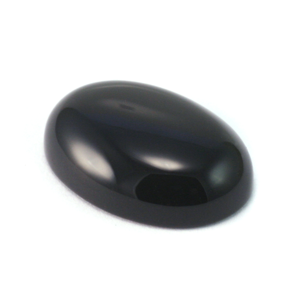 Crystals & Beads Black Onyx Cabochon for Soldered Rings and Bezels Class, 18mm