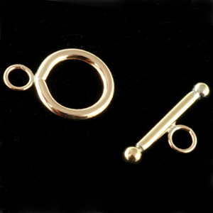 Chain & Clasps Gold Filled 12mm Round Toggle Clasp