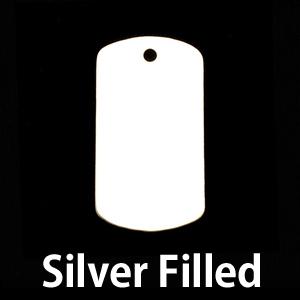 Metal Stamping Blanks Silver Filled Medium Dog Tag (no notch), 24g