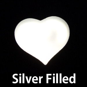 Metal Stamping Blanks Silver Filled Medium Puffy Heart, 24g