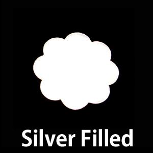 Metal Stamping Blanks Silver Filled Large 8 Petal Flower, 24g