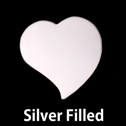 Metal Stamping Blanks Silver Filled Large Stylized Heart, 24g