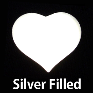Metal Stamping Blanks Silver Filled Large Puffy Heart, 24g