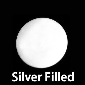 """Metal Stamping Blanks Silver Filled Circle 1/2"""" (13mm), 24g"""