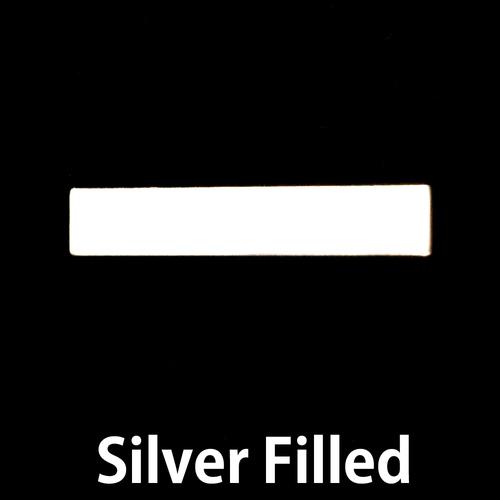 "Metal Stamping Blanks Silver Filled 1.20"" Rectangle Bar, 24g"