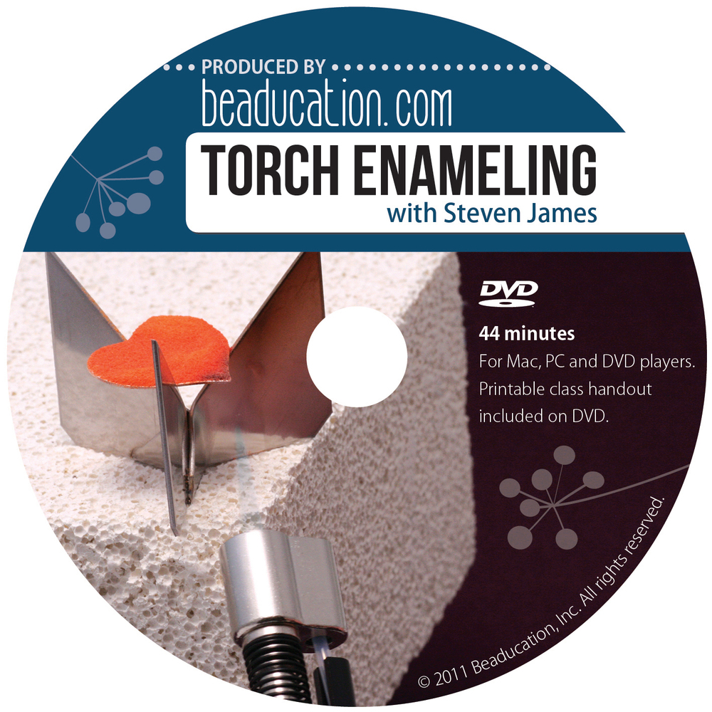 Enamel & Mixed Media Torch Enameling DVD with Steven James
