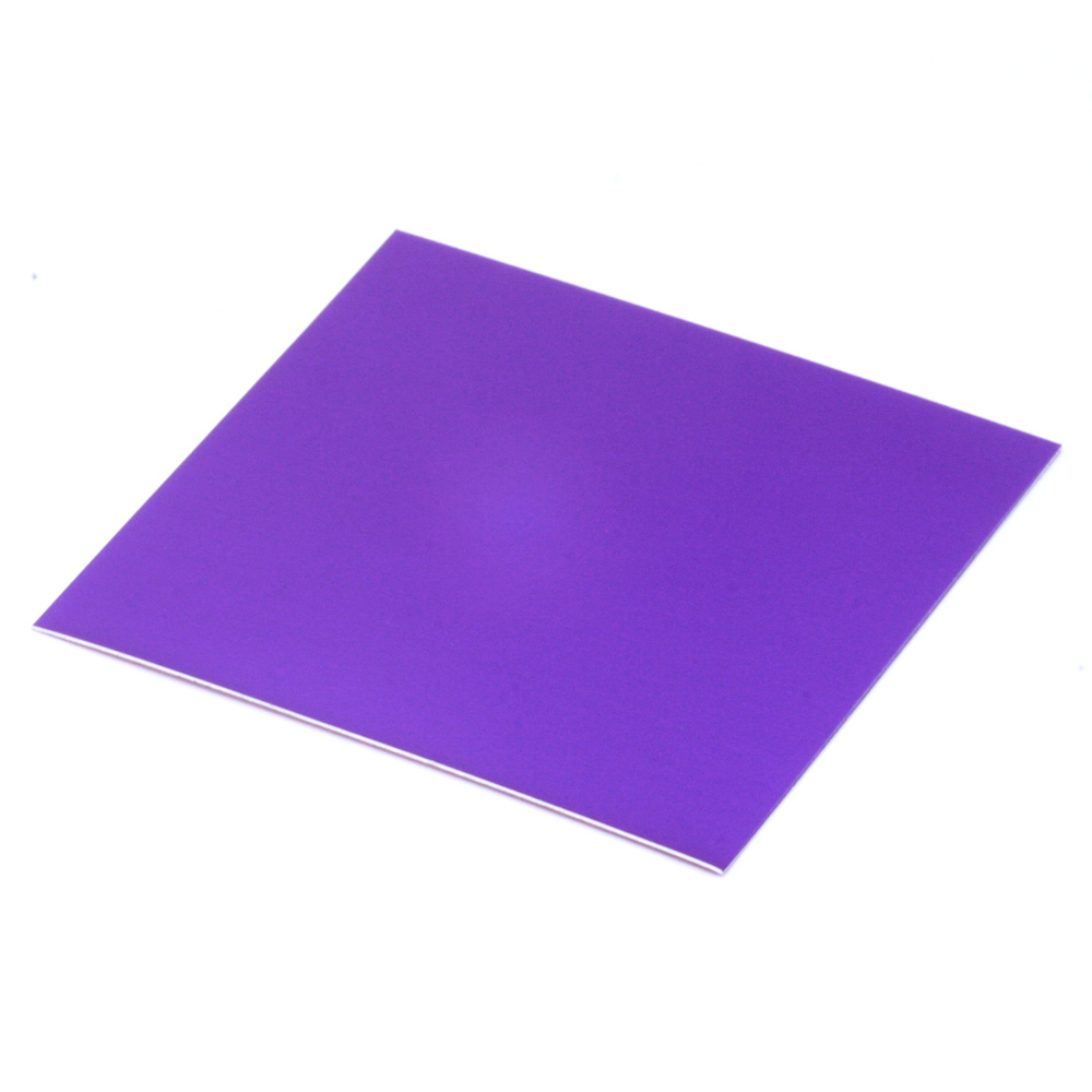"Wire & Sheet Metal Anodized Aluminum Sheet, 3"" X 3"", 24g, Violet"