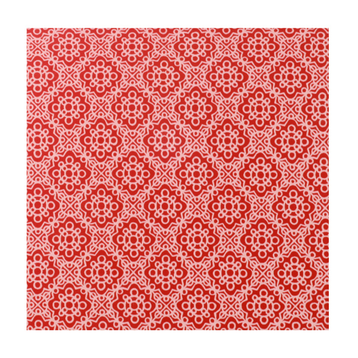 "Anodized Aluminum Sheet, 3"" X 3"", 22g, Design P - RED"