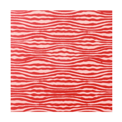 "Dregs Anodized Aluminum Sheet, 3"" X 3"", 22g, Design W - Red"