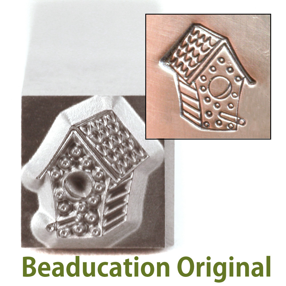 Metal Stamping Tools Bird House Metal Design Stamp, 8.5mm - Beaducation Original